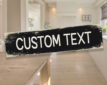 Personlised Custom Your Any Text Metal Long Sign Plaque